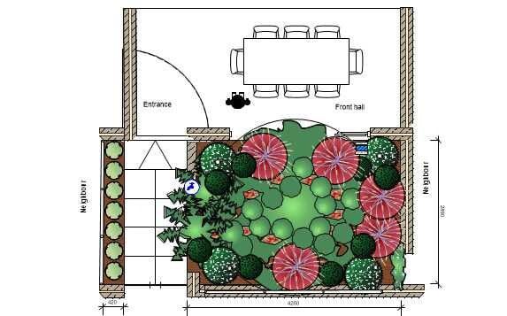 Hawthorn East 2D Landscape Plan Front Garden Design