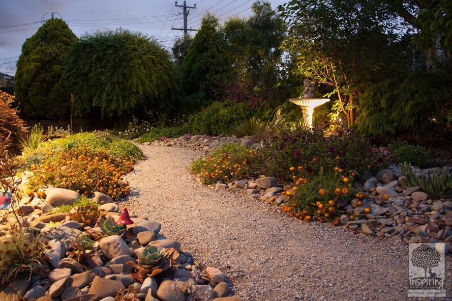 Garden lighting. Garden rejuvenation of a Vermont South property in Melbourne by Inspiring Landscape Solutions