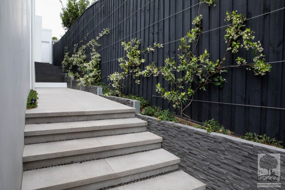 New build landscape design. Landscape design of a Camberwell property in Melbourne by Inspiring Landscape Solutions