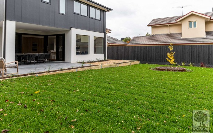 Large grassed area in Burwood landscape design by Inspiring Landscape Solutions