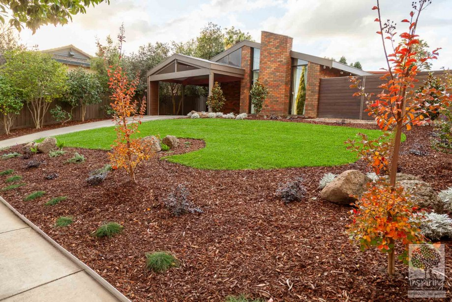 Front garden design in autumn. Melbourne garden and landscape design by Inspiring Landscape Solutions