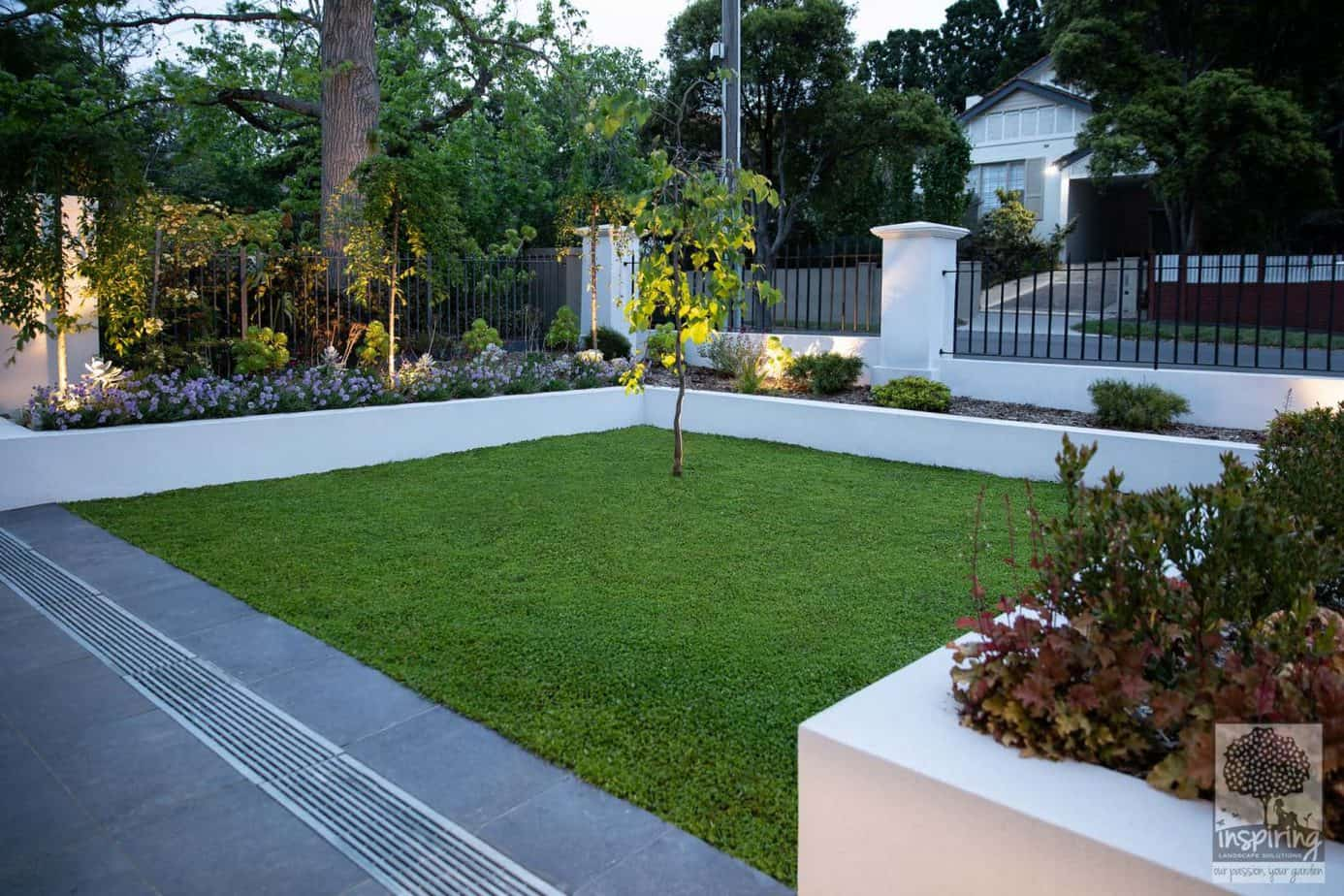 Front garden in Camberwell landscaped using perennials and Australian natives