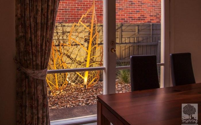Garden artwork. Garden rejuvenation of a Doncaster property in Melbourne by Inspiring Landscape Solutions