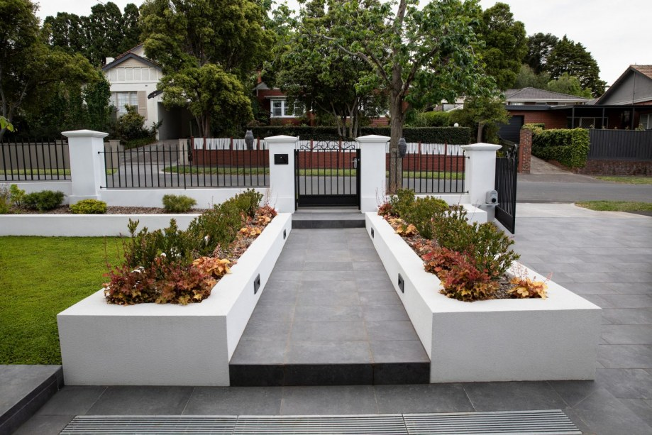 New build landscape design. Garden design of Camberwell property by Inspiring Landscape Solutions