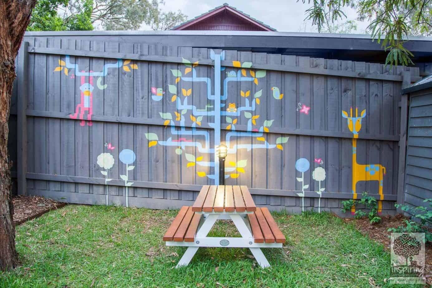 Kids mural used in Blackburn landscape design by Parveen Dhaliwal