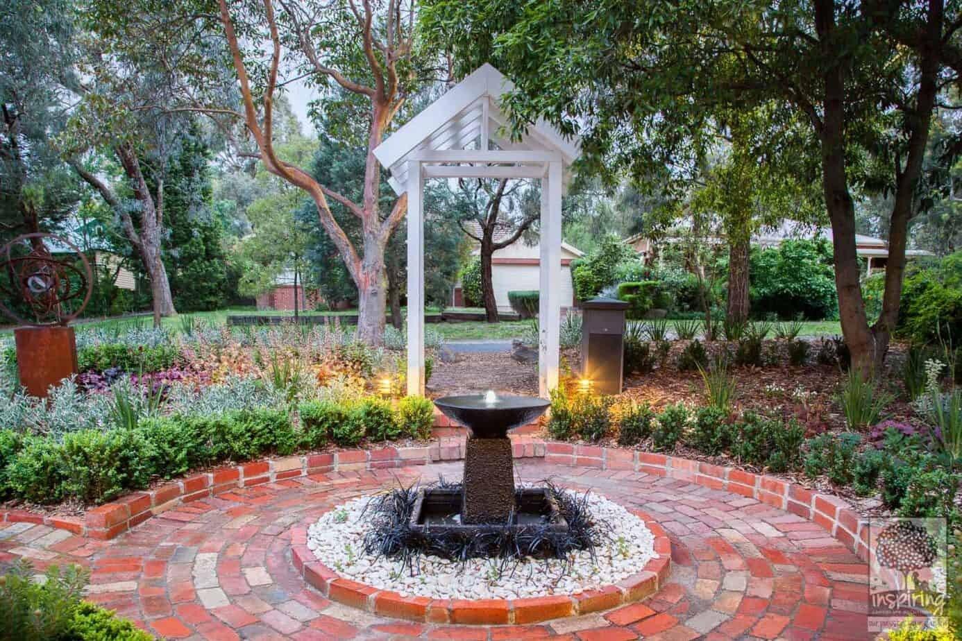 View of garden entrance from front door in Blackburn garden design