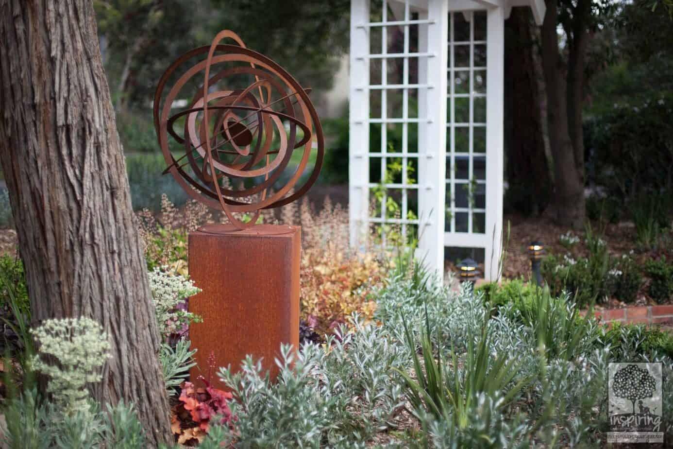 View of front garden from the driveway in Blackburn garden design