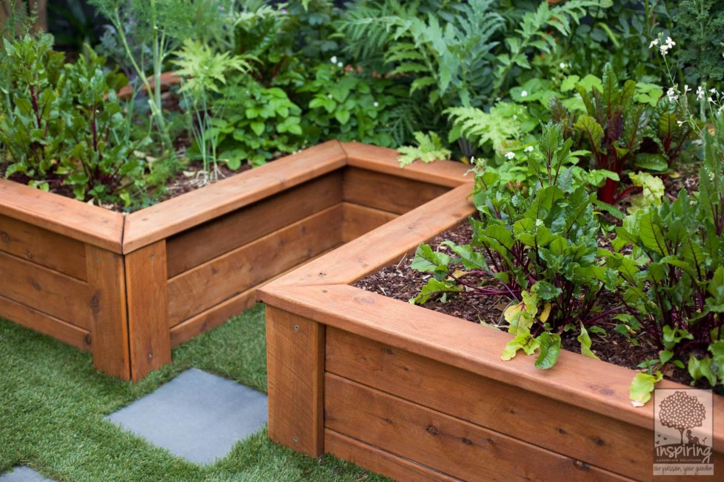 Urban food garden in productive part of Glen Waverley landscape design