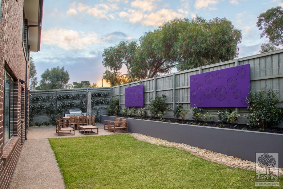 Garden lightbox used in landscape design Melbourne