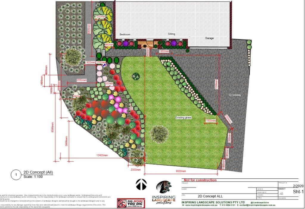 Fern tree Gully frontyard native garden design by Parveen Dhaliwal Melbourne