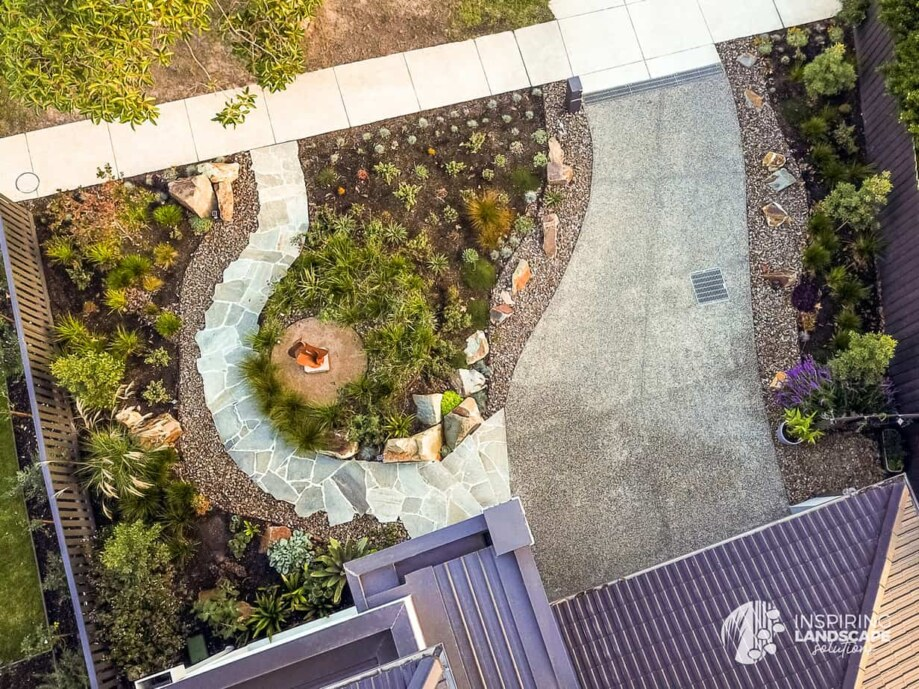 Aerial view of Mount Waverley garden from home office